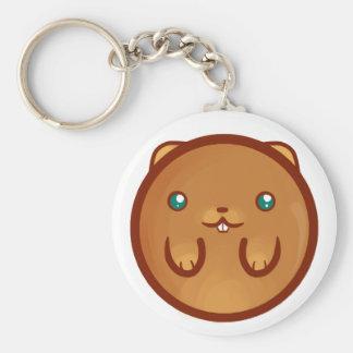 Chibi Hamster Basic Round Button Key Ring