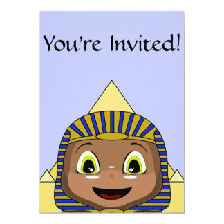 Chibi Sphinx With Pyramids 13 Cm X 18 Cm Invitation Card
