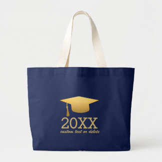 Chic Gold Foil Trendy Graduation Class of 2016 Jumbo Tote Bag