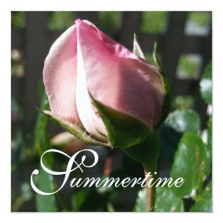 "CHIC INVITATION_""Summertime"" NEW DAWN ROSES 13 Cm X 13 Cm Square Invitation Card"
