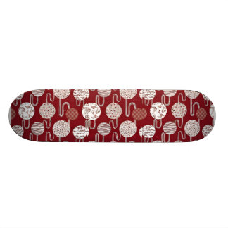 Chic  Red Japanese Traditional  Pattern Skateboard