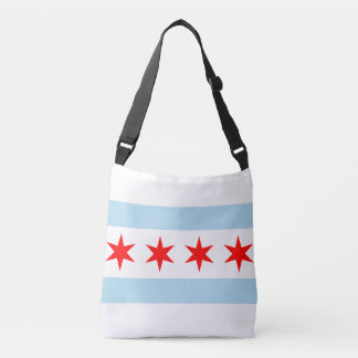 Chicago city flag tote bag