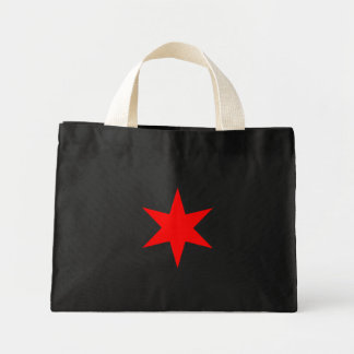 Chicago Flag 6-Pointed Star Mini Tote Bag