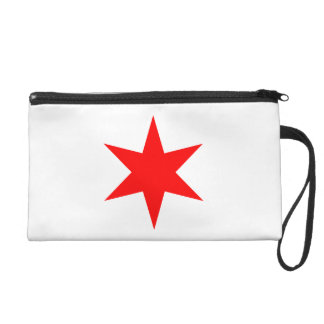 Chicago Flag 6-Pointed Star Wristlet Purse