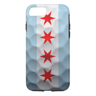 Chicago Flag Golf Ball Pattern iPhone 7 Case