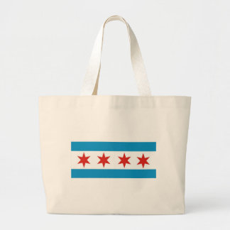 chicago flag jumbo tote bag