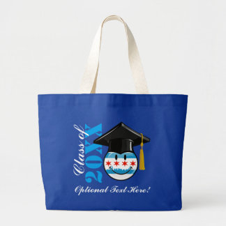 Chicago Graduate Pride Smiling Flag Jumbo Tote Bag