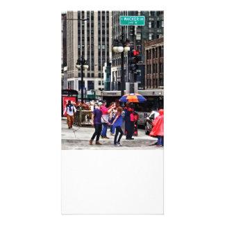 Chicago IL - Rainy Day on E Wacker Drive Photo Card