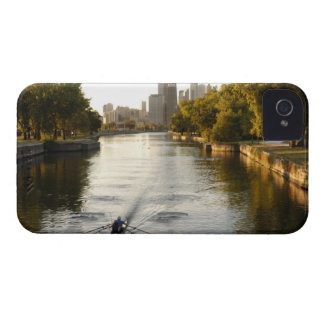 Chicago, Illinois, Rowers in Lincoln Park lagoon iPhone 4 Case