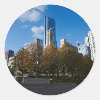 Chicago - Millennium Park Round Sticker