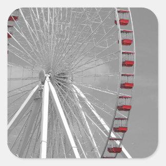 Chicago Navy Pier Ferris Wheel Square Sticker