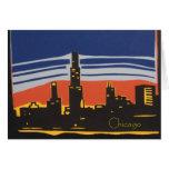 Chicago Skyline Note Card