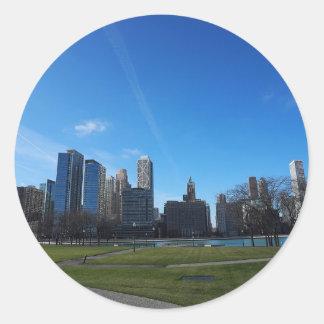 Chicago -The Lake Michigan Round Sticker