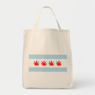 CHICAGROW GROCERY TOTE BAG