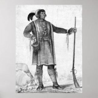 Chief Osceola of Florida circa 1838. Poster