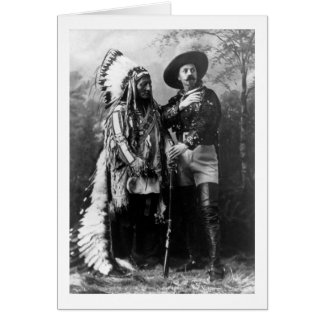 Chief Sitting Bull and Buffalo Bill 1895 Greeting Card