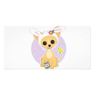 Chihuahua Easter Photo Card