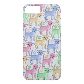 Chihuahua Lover Colorful Pattern iPhone 7 Case
