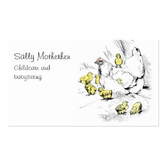 Child day care chicken and chicks pack of standard business cards
