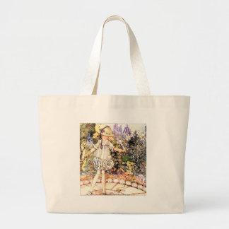 Child in Garden Jumbo Tote Bag