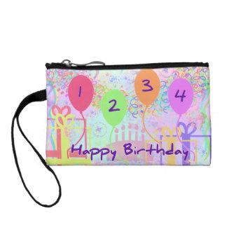 Child or Kid Birthday Four Years Happy Birthday! Change Purse