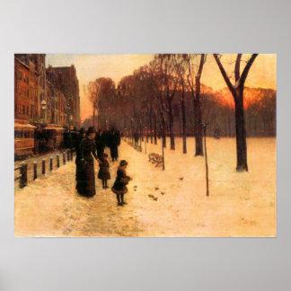 Childe Hassam - Boston in everyday twilight Poster