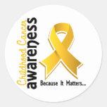 Childhood Cancer Awareness 5 Round Sticker
