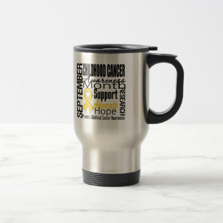 Childhood Cancer Awareness Month Tribute Stainless Steel Travel Mug