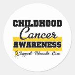 Childhood Cancer Awareness Round Sticker