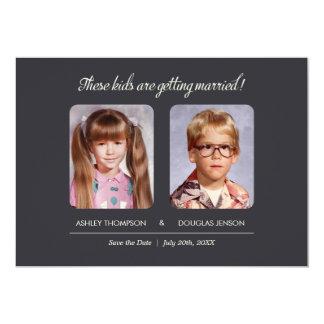 Childhood Photos Save the Date Invitation