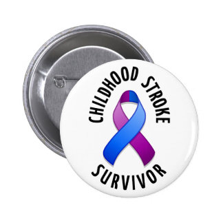 Childhood Stroke Survivor Button