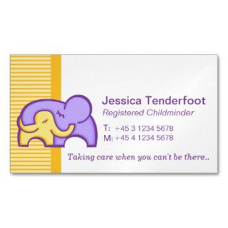 Childminder/ baby sitter carer hug business cards magnetic business cards