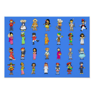 Children from arouns the world. poster