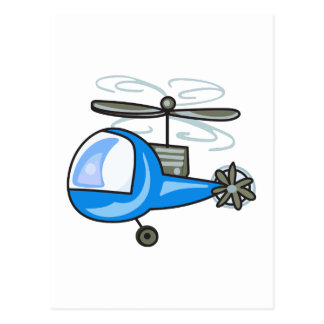 CHILDRENS HELICOPTER POSTCARD