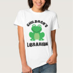 Children's Librarian library frog T-shirt