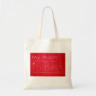 Child's handwritten love - My Mom is Boss! Budget Tote Bag