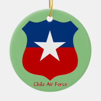 Chile Air Force Ceramic Circle Ornament