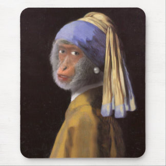 Chimp With The Pearl Earring Mouse Pad