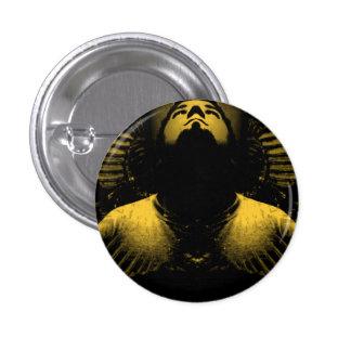 Chin up 3 cm round badge