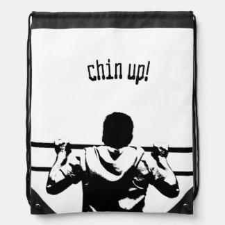 Chin Up! Drawstring Backpacks