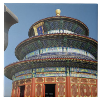 China, Beijing, Temple of Heaven, Chinese Urn in Large Square Tile
