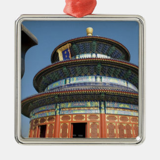 China, Beijing, Temple of Heaven, Chinese Urn in Silver-Colored Square Decoration