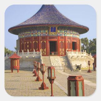China, Beijing, Tian Tan Park, Temple of Heaven, Square Sticker