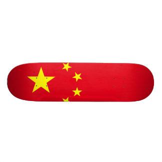 China Flag Custom Skateboard