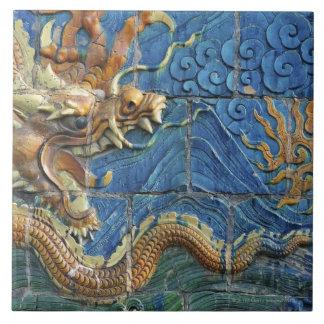 China, Shanxi, Datong, wall of nine dragons Large Square Tile