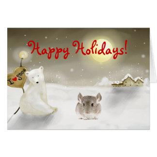 Chinchilla Holiday card
