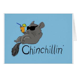 chinchillin greeting card