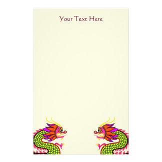 Chinese Dragons Stationery Paper