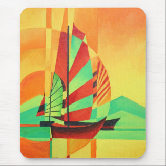 Chinese Junks Sail to Shore Mouse Pad