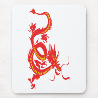 Chinese New Year Red Dragon Mouse Pad